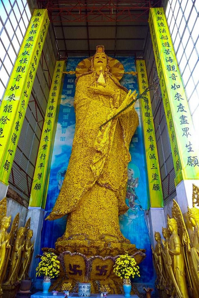 tượng quan thế âm bồ tát hoa bất tử lớn nhất châu Á