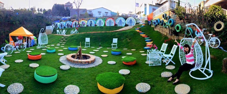 Sân vườn ở Đà Lạt otel