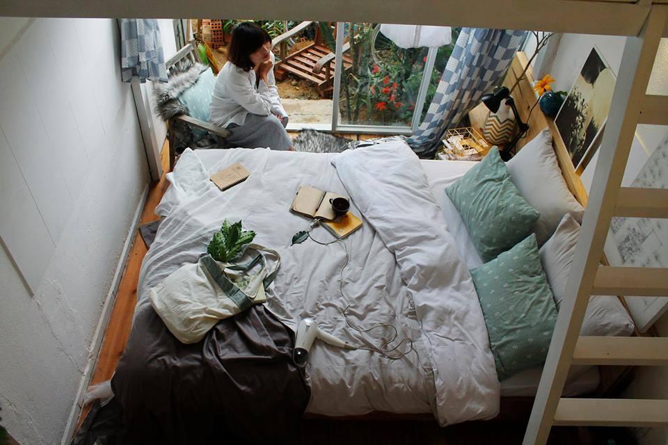 Căn phòng ngủ xinh xắn ở homestay
